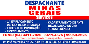 DESPACHANTE MINAS GERAIS